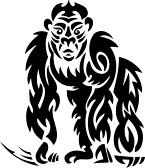 8758936-gorilla-tribal-animals-vector-illustration-ready-for-vinyl-cutting